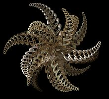 3D fractal metal star or flower by bubblenjb