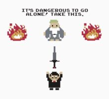 It's Dangerous To Go Alone by Amy Huxtable