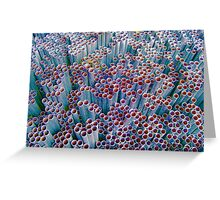 Pipes into Bubbles ~ pillow collection Greeting Card