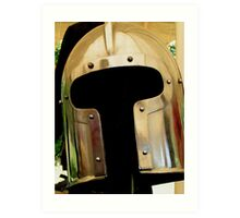 Medieval Barbuta helmet Art Print