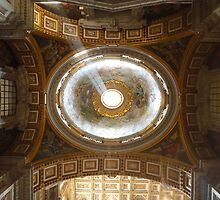 Domes of St Peter's Cathedral, Rome, Italy by Jo Blunn