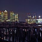 Canary Wharf and the O2 (Millennium Dome) by Terry Senior