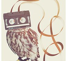 Cassette Owl by Chris Beaumont