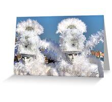 Venice - Carnival Mask 2011....03 - Bright White Greeting Card