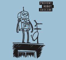 Geeky Robot Suicide by guodart