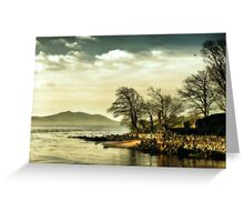 Where the river meets the sea Greeting Card