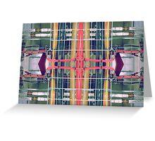 wire matrix collage II Greeting Card