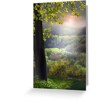 Sunset In The Hills Greeting Card