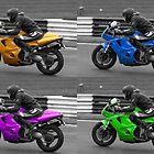 Triumph Daytona selective colour montage by Nick Barker