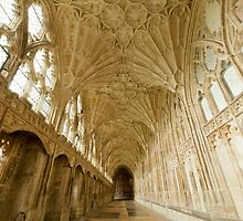 Gloucester Cathedral Cloisters III by Chris Tarling