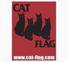 cat flag sticker  by BUB THE ZOMBIE