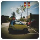 yellow smart car by scott hamilton