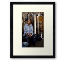 Old Man, Chorsu Bazaar Framed Print