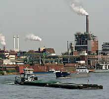 Chempark and Rhine, Krefeld Uerdingen, Germany. by David A. L. Davies