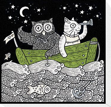 The Owl & The Pussycat Went to Sea by Anita Inverarity