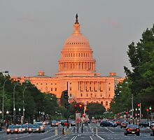 U.S. Capitol at Sunset  by michael6076