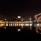 Night at Oporto's Douro Riverside, Portugal by Helder Ferreira