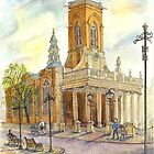 All Saints church, Northampton, UK by sketchartistjt