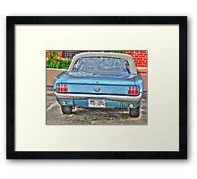 1965 Mustang-rear view Framed Print