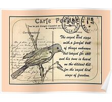 Postcards to Remember 2 - The caged bird sings Poster