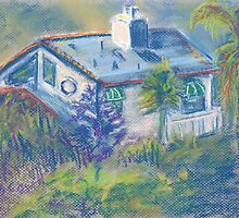 California Cottage (pastel) by Niki Hilsabeck