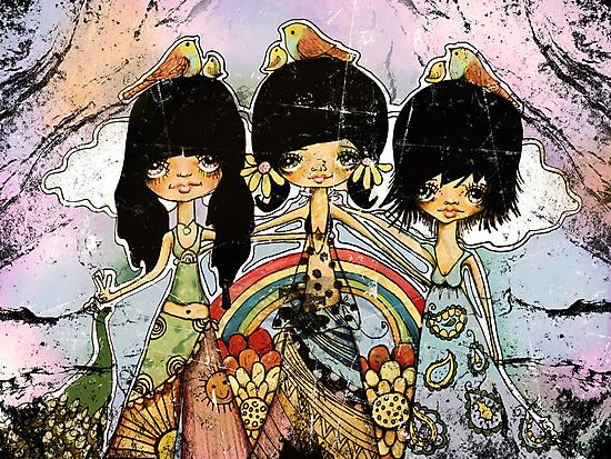 hippy chicks by © Karin  Taylor