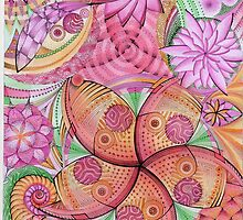 Psychedelic flowers by Lyndsey Hale