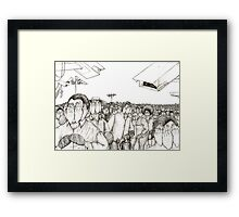 """The Blind lead the """"Blind"""" to where? Framed Print"""