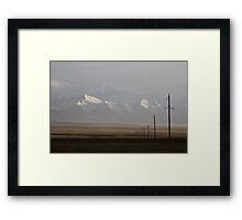 Pamirs at dusk Framed Print
