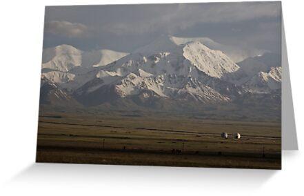 Pamirs at dusk, Sary Tash by Gillian Anderson LAPS, AFIAP