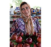 Nectarine Lady, Margilon Photographic Print