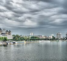 River Rhine Skyline by Lilian Marshall