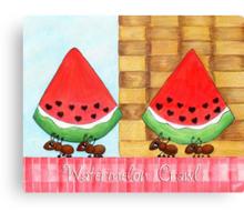 Watermelon Crawl Canvas Print