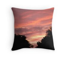Pink Skyline Throw Pillow