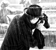 London Photographer in the Snow by DavidGutierrez