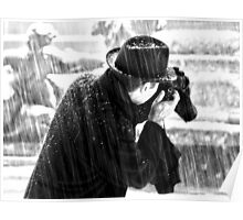London Photographer in the Snow Poster