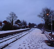 Topsham station in winter by Charmiene Maxwell-batten