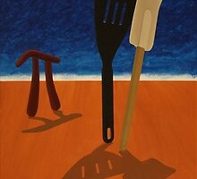 Pi Observing Utensils About to Kiss at Two in the Afternoon by Rudy Pavlina