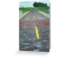 Route 66 - Brick Highway Greeting Card