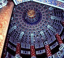Temple of Heaven, Ceiling, Beijing, China  by Carole-Anne