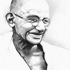 Mohandas Gandhi by Haley Wolcott