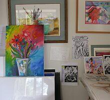 Corner of my studio by Karin Zeller