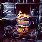 Cosy fireside at Beamish Museum by Kevin Allan