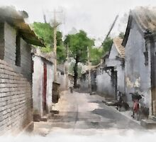 Hutongs, Beijing, China by Teresa Zieba