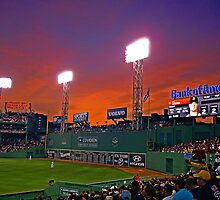 Evening Lights at Fenway Park by Turtle6