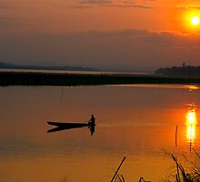 Mekong Sunset. by bulljup