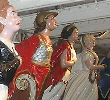 Cutty Sark Figureheads (before the fire), Greenwich by MagsWilliamson