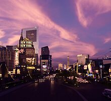 The Strip, Las Vegas evening October by Ben Procter