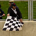 Silverstone Chequered Flag by Paul Collin
