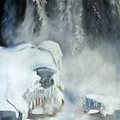 Robin Webster&#x27;s Snow Scene... &quot;Niagara Falls Ontario, Canada.&quot; by Qnita